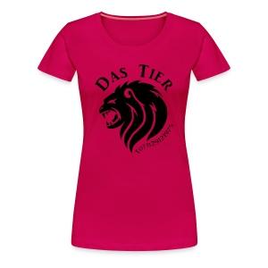 Das tierische Weibchen  - Frauen Premium T-Shirt