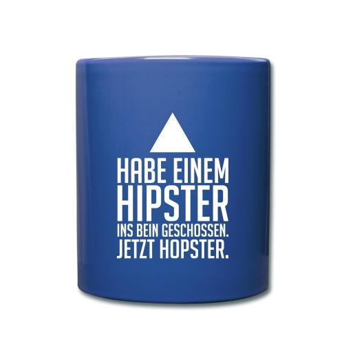 Hipster - Hopster - Tasse einfarbig