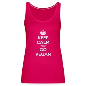 Keep calm and go vegan women's tank - Women's Premium Tank Top
