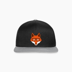 Sweet Funny hipster fox with nerd glasses Caps & Hats