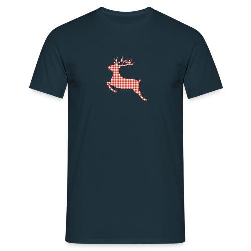KARO HIRSCH - Männer T-Shirt