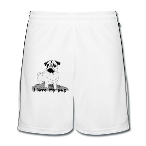 I love my pug! - Men's Football shorts