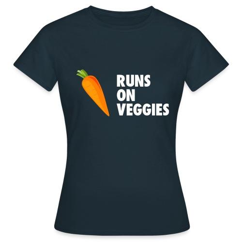 Run on veggies white text women's t shirt - Women's T-Shirt