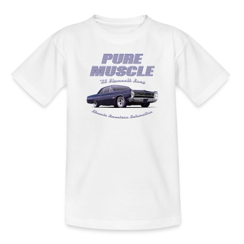 Kids White T-Shirt | Pure Muscle | Classic American Automotive - Kids' T-Shirt