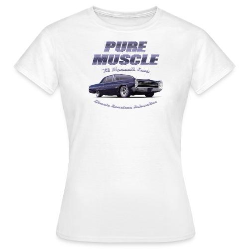 White womens T-Shirt | Pure Muscle | Classic American Automotive - Women's T-Shirt