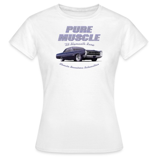 White womens T-Shirt | Pure Muscle | Classic American Automotive - Women's T-Shirt