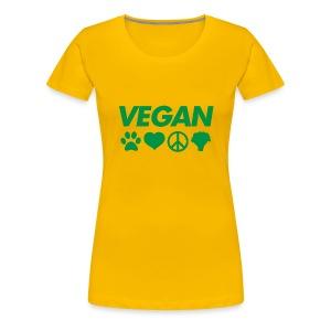 Vegan symbol women's t shirt - Women's Premium T-Shirt