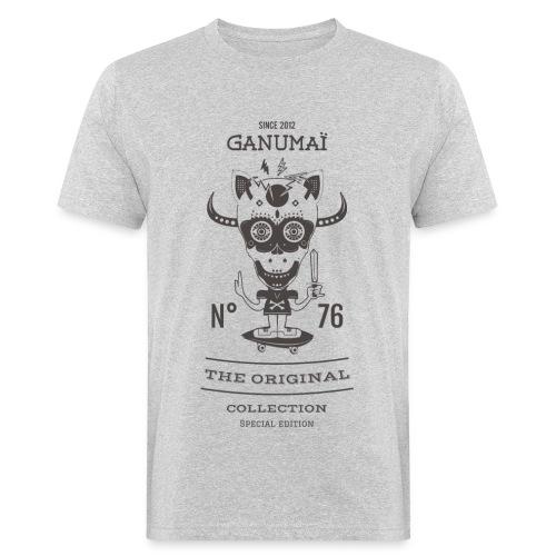 Tee-shirt Guerrier Skateur - Gris - T-shirt bio Homme
