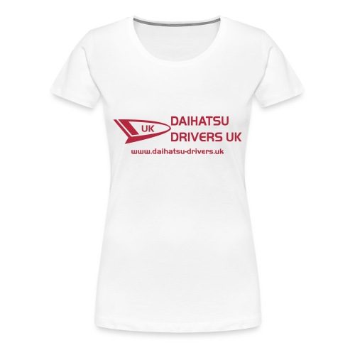 DD Ladies White T-Shirt - Women's Premium T-Shirt