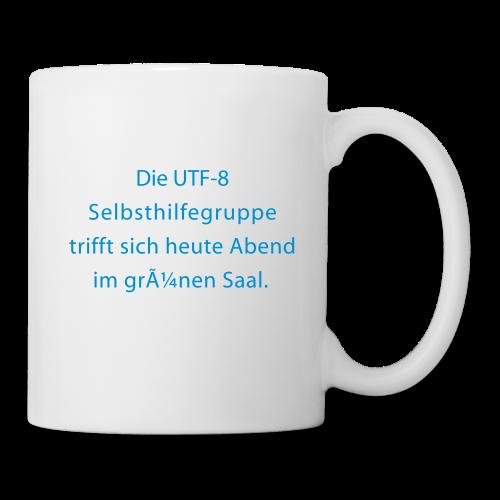 UTF-8-Selbsthilfe - Tasse