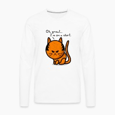 cat grumpy cat grunge on shirt Long sleeve shirts