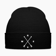 Hipster compass / Cross - Modern Trendy Outfit Caps & Hats