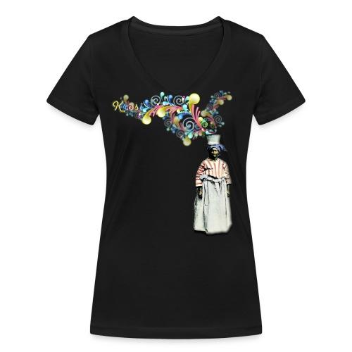 Kopro Beki Denki - Vrouwen bio T-shirt met V-hals van Stanley & Stella