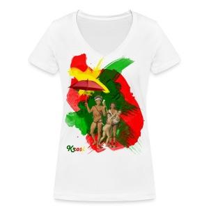 Famiri Potreti - Vrouwen bio T-shirt met V-hals van Stanley & Stella