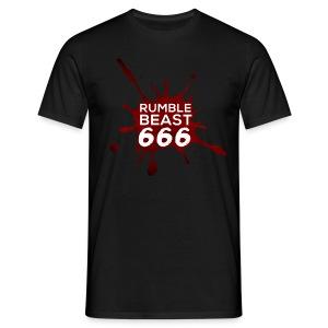 RumbleBeast666 T-Shirt Come to where the Flachsinn is (schwarz) - Männer T-Shirt
