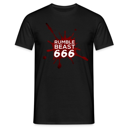 RumbleBeast666 T-Shirt Come to where the Flachsinn is (schwarz) - Männer T-Shirt