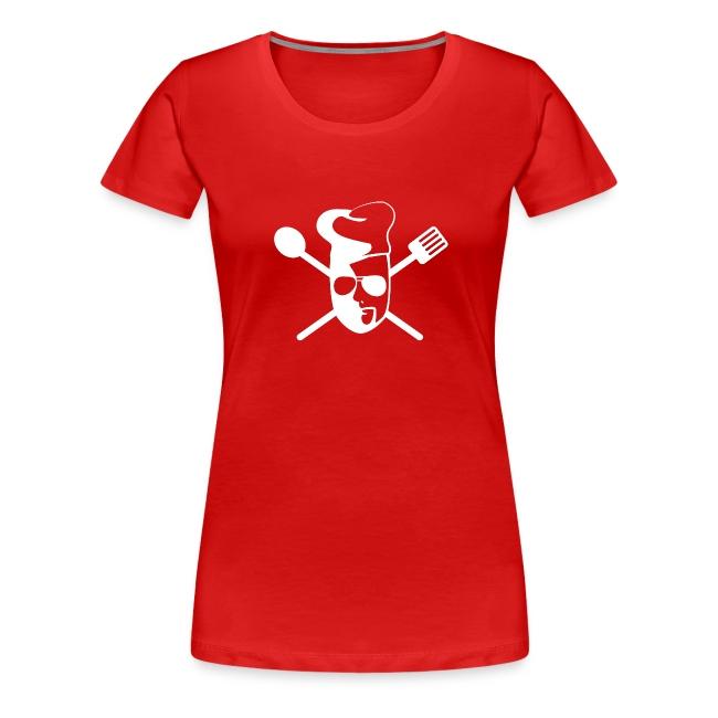 "Tom kocht! Girlie-Shirt ""...fehlt Salz"" (schwarz)"