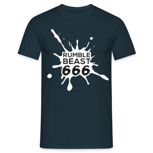 RumbleBeast666 T-Shirt (Come to where the Flachsinn is, schwarz) - Männer T-Shirt