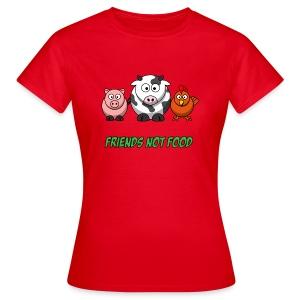 Friends not food women's t shirt - Women's T-Shirt