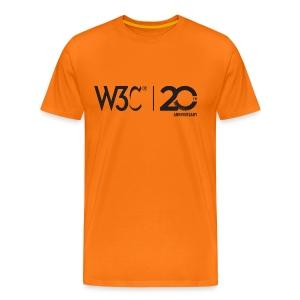 w3c20_men_orange_shirt - Men's Premium T-Shirt