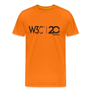 w3c20_men_orange_shirt - Men's Premium T-Shirt