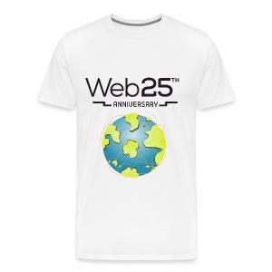 web25_white_shirt - Men's Premium T-Shirt