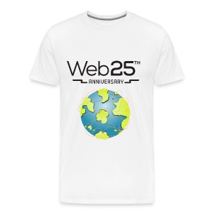 web25_white_shirt - Men's Premium T-Shirt