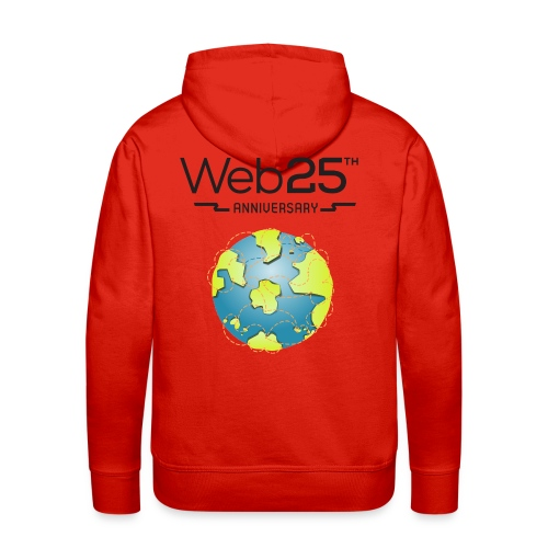 web25_red_hoodie - Men's Premium Hoodie