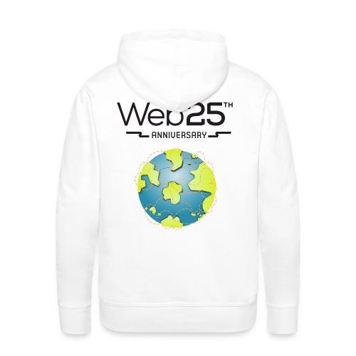 web25_white_hoodie - Men's Premium Hoodie