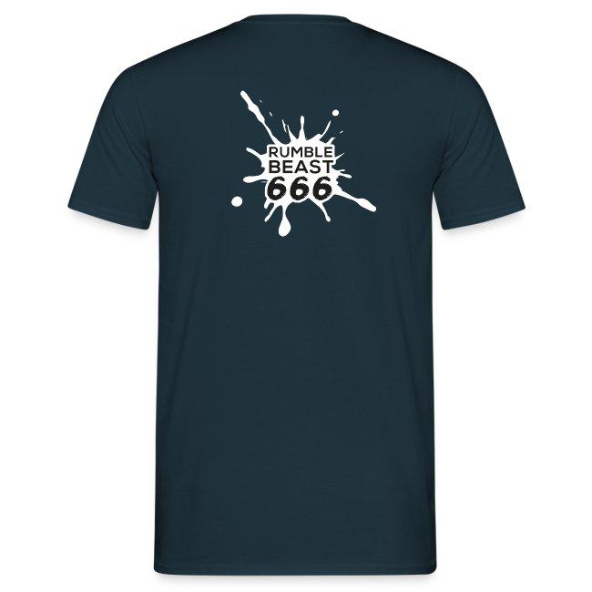 """T-Shirt (""""Ich bin zwar kein Gynäkologe..."""", RumbleBeast666 Logo, schwarz)"""