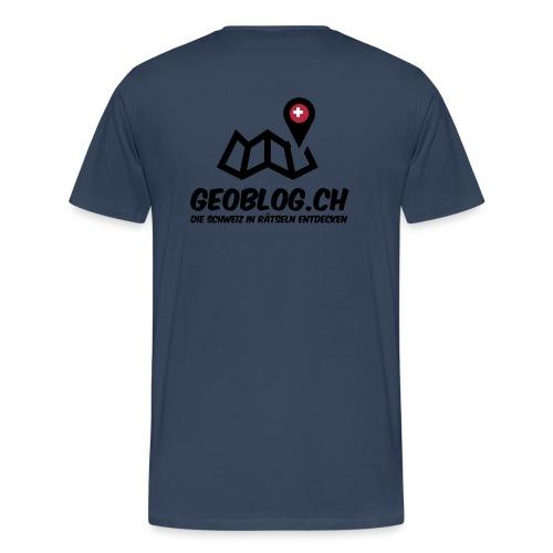 Männer Premium T-Shirt mit Logo hinten - Männer Premium T-Shirt