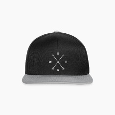 Hipster compass / crossed arrows / retro look Caps & Hats