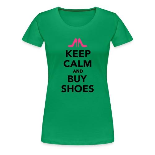 Keep calm and buy shoes - Premium-T-shirt dam