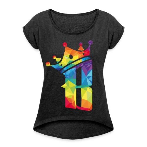 T-shirt Femme  B color - T-shirt à manches retroussées Femme