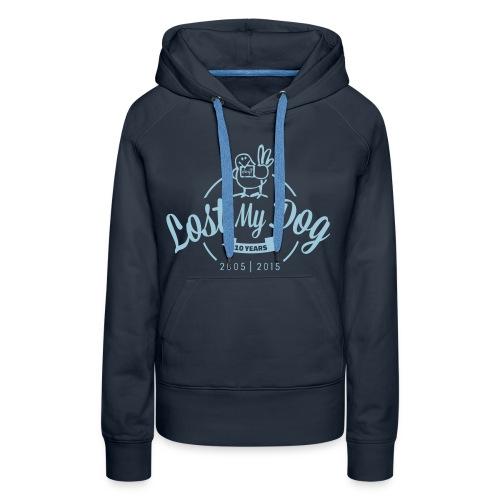 Ladies 10 Year Hoodie (Blue Print) - Women's Premium Hoodie