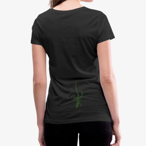 Lézard Gecko t-shirt Femme - T-shirt bio col V Stanley & Stella Femme