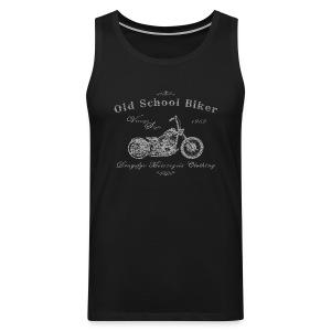 Biker Tank Top | Old School Biker - Männer Premium Tank Top