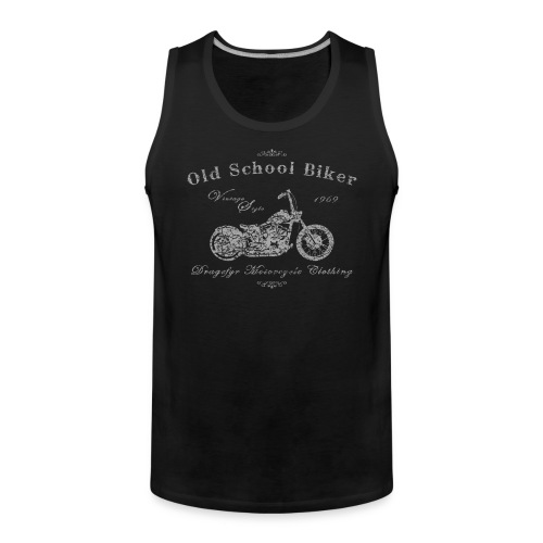 Biker Tank Top | Old School Biker - Männer Premium Tank Top