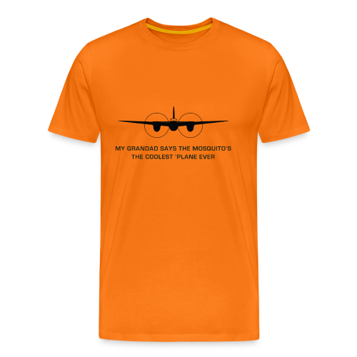 Adult Grandad T-Shirt - Orange - Men's Premium T-Shirt
