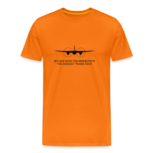 Adult Dad T-Shirt - Orange - Men's Premium T-Shirt