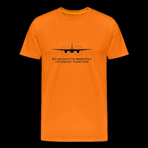 Adult Dad T-Shirt - Orange - Men's Premium T-Shirt