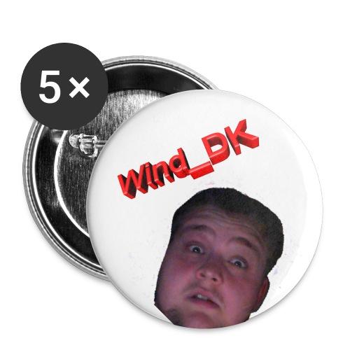 Badges  med hovede - Buttons/Badges lille, 25 mm (5-pack)
