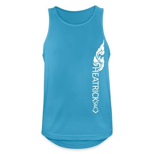 Mens Breathable Vest WHITE Logos - Men's Breathable Tank Top