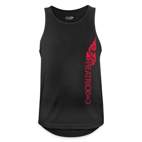 Mens Breathable Vest RED Logos - Sunday - Men's Breathable Tank Top