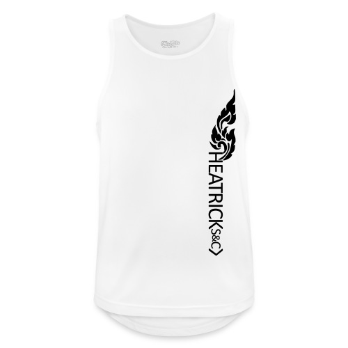 Mens Breathable Vest BLACK Logos - Men's Breathable Tank Top