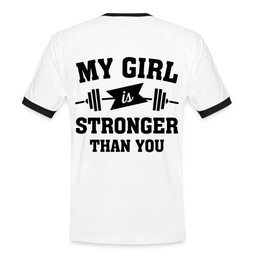 Camiseta My girl is stronger - Camiseta contraste hombre