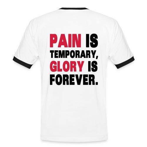 Camiseta Pain is temporary - Camiseta contraste hombre