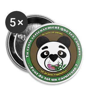 Panda végétalien - Badge grand 56 mm