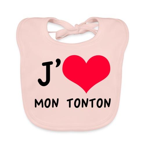 J'aime mon TONTON - Bavoir bio Bébé