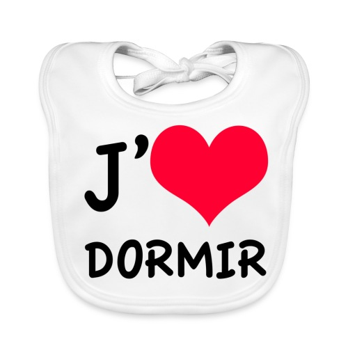J'aime DORMIR - Bavoir bio Bébé